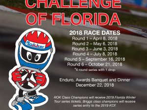 2018 PROGRAM SET FOR KARTING CHALLENGE OF FLORIDA AT PALM BEACH KARTING